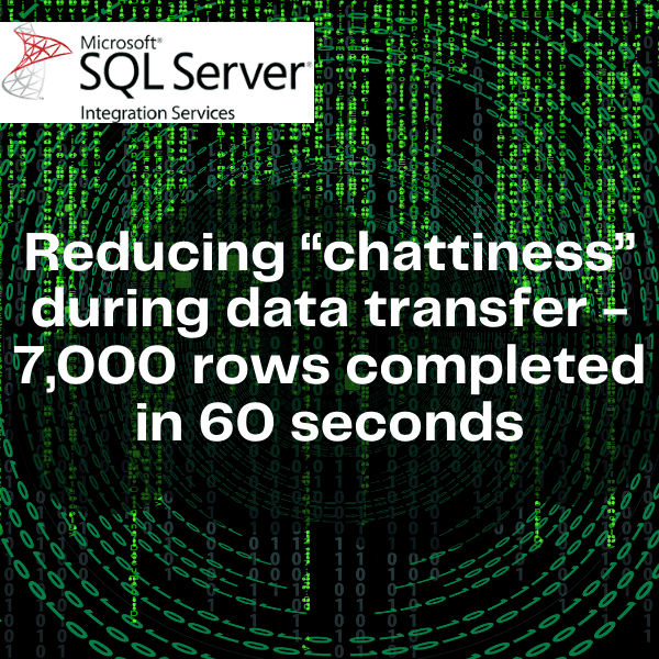 Reducing Chattiness during big data transfer to cloud